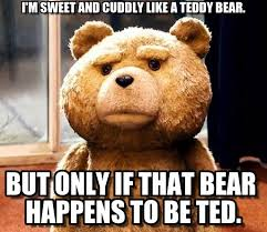 I'm Sweet And Cuddly Like A Teddy Bear. - Ted meme on Memegen via Relatably.com
