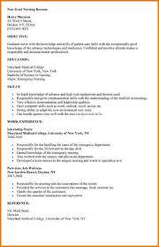 graduate nursing resume   proposaltemplates infonew grad nursing resume objective