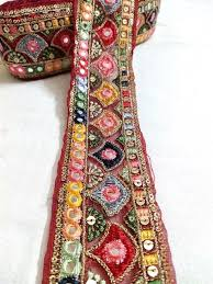 Papercraft Lace & Trim MultiColour <b>Floral Embroidery</b> Work Net ...
