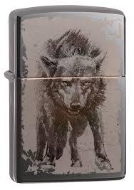 <b>Зажигалка ZIPPO Wolf Design</b> с покрытием Black Ice®, латунь ...