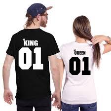 <b>Парные футболки King</b> Queen 01
