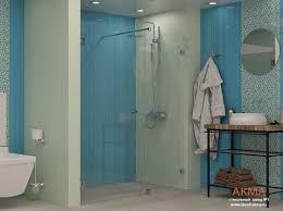 Стеклянные <b>душевые двери в нишу</b> от завода АКМА в Москве