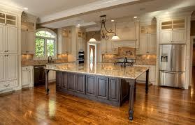 m beautiful white brown wood stainless glass unique design vintage kitchen ideas windows wall cabinet refrigerator granite top base cabinet wood floor antique kitchen lighting