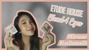 No worry about eye makeup anymore! <b>ETUDE HOUSE</b> Blend 4 Eyes
