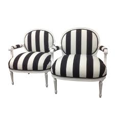 french black white striped chairs a pair chairish image of accent dining room chairs black and white striped furniture