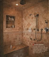 spa bathroom showers: our master bathroom amp spa shower plans the log home guide