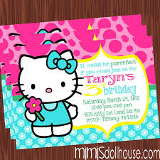 hello kitty invitation mimi s dollhouse invite display no picture