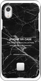 <b>Клип</b>-<b>кейс Happy Plugs</b> для Apple iPhone XR Black Marble black ...
