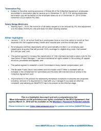 guides fact sheets amapceo fact sheet ops collective agreement highlights