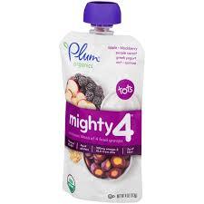 Plum Organics <b>Tots Mighty 4</b> Purple Carrot Blackberry Quinoa ...