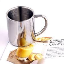 <b>1pc Portable</b> Student <b>Stainless</b> Steel Double Wall Mug Travel Coffee ...