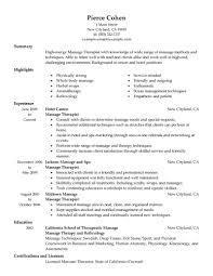 massage resume examples  massage therapist resume sample  massage    massage therapist resume examples