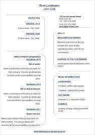 basic resume template –    free samples  examples  format    simple  amp  basic resume template