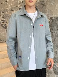 <b>Men's</b> Classic <b>Turn</b>-<b>down</b> Collar Button-down Shirt <b>Casual Jacket</b> ...