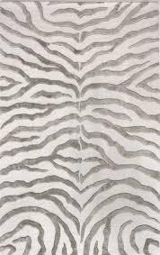 safaricontemporary zebra print with faux silk highlights rug chic zebra print rug