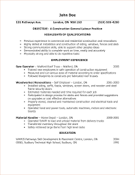 qualifications resumeexamples resume objective statement general    resume examples general labor  png