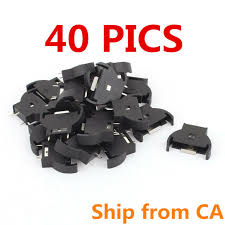 <b>5pcs</b> Computer Button 3V <b>Battery Holder</b> Connnector Socket Case ...