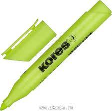 """<b>Kores Маркер выделитель</b> текста """"<b>Kores</b>"""" 1-4 мм, желтый"""