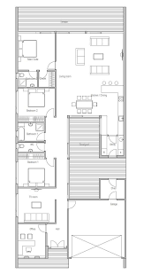 Contemporary home plan   private courtyard  Open planning    Contemporary home plan   private courtyard  Open planning  suitable to narrow lot  Three bedrooms house plan    house  amp  home   Pinterest   Contemporary