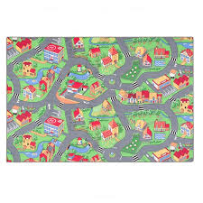 Zoomie Kids <b>Little Village</b> Green Rug | Wayfair.co.uk
