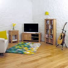 aston oak corner television cabinet bdi home furniture showroom variant attributes aston solid oak hidden