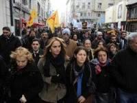 Pınar Sağ'a destek için yürüdüler