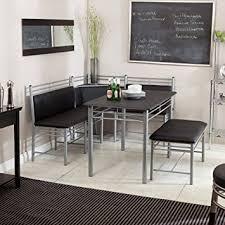breakfast nook black family diner 3 piece corner dining set enjoy the best kitchen breakfast furniture