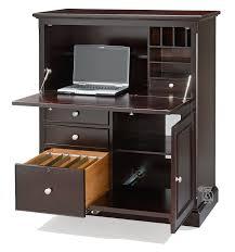 metro office compact computer armoire desk in espresso finish armoire office desk
