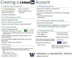 linkedin networking job search tools career services uw add contacts