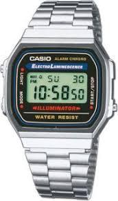 <b>Часы мужские CASIO A-168WA</b>-<b>1</b>: полимер — купить в интернет ...