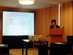 environmental information and microsystems laboratory mr yokozawa mr takayama mr miyake and prof morita presented their research topics at the actuator 2016 conference