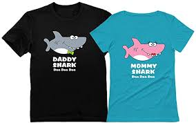 <b>Daddy</b> Shark <b>Mommy</b> Shark Doo Doo Doo <b>Mom</b> and <b>Dad</b> Gift <b>T</b>-<b>Shirt</b> ...