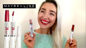<b>MAYBELLINE SuperStay 24</b> Lip Color Review - YouTube