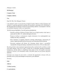 english cover letters template english cover letters