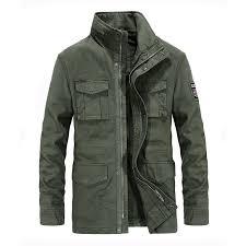2019 Men Clothing Brand Military Jacket Men Cotton <b>Stand Collar</b> ...