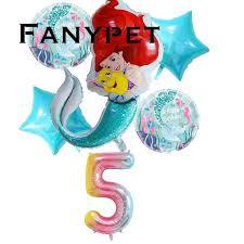 Buy <b>6pcs</b>/<b>lot</b> Rainbow Gradient mermaid <b>Balloon</b> 32 inch Number ...