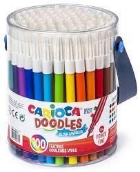 """<b>Carioca Фломастеры</b> """"<b>Doodles</b>"""" 100 шт. (40043) — купить по ..."""