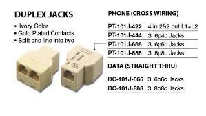 dual phone jack wiring diagram dual image wiring telephone connectors adapters 02300 02 on dual phone jack wiring diagram