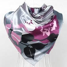2017 Elegent Women Large Square <b>Silk Scarf</b> Printed,90*<b>90cm</b> ...