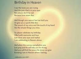 Happy Birthday in Heaven... Thanku for this comforting poem, my ... via Relatably.com