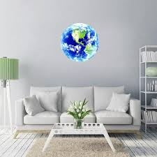 <b>New</b> 1PCS Luminous blue earth Cartoon DIY <b>3d Wall Stickers</b> for ...