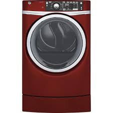 Ge Electric Dryer Heating Element Ge 83 Cu Ft Electric Dryer With Steam In Ruby Red Energy Star
