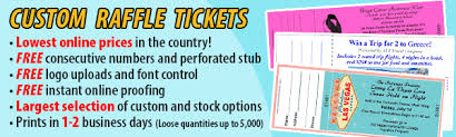 Raffle Ticket Printing Features of our Custom Raffle Tickets