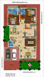 D Front Elevation com  kanal house drawing   floor plans     sq yard house plans ideas  amp  designs