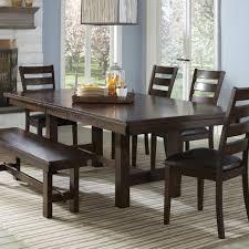 expandable dining table ka ta: intercon kona trestle dining table item number ka ta  rai