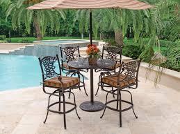pc swivel wicker patio bar dining set