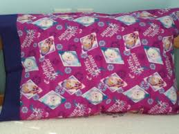 <b>Disney's</b> Frozen with Elsa and Anna <b>100</b>% <b>cotton</b> pillowcase