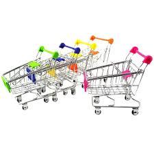 <b>Mini</b> Shopping Trolley Storage Box <b>Creative Supermarket</b> Shopping ...