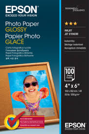 Photo <b>Paper Glossy</b> - 10x15cm - 100 sheets - <b>Epson</b>