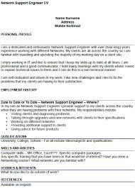 network support engineer cv example   icover org uk